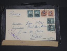 ESPAGNE-Enveloppe Pour Paris Avec Censure De Valencia En 1938 Aff Plaisant  à Voir  P7077 - Marcas De Censura Nacional