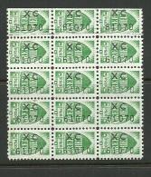 United Kingdom Ireland Tax Green Shield Stamps In 15-block - Cinderellas