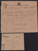 British INDIA - Very Old TELEGRAM Used Hyderabad SINDH 4.12.1943, + Cover - 1936-47 Roi Georges VI