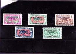 OUBANGUI : Y&T : 43 à 47 * - Oubangui (1915-1936)