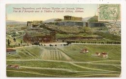 ATHENES VUE DE L'ACROPOLE AVEC LE THEATRE D'HERODE ATTICUS  CP9814 - Grecia