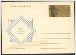 Polonia/Poland/Pologne: Intero, Stationery, Entier. Mahatma Gandhi - Mahatma Gandhi