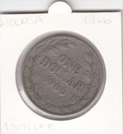 LIBERIA  1 ONE  DOLLAR  1966 LARGE COIN - Liberia