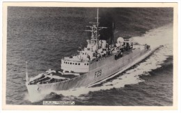 """HMS """"Verulam"""" F29 By R A Fisk (Official Photographer, HMS Ganges) Black & White Photographic Postcard, Unused - Warships"""