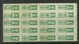 Unknown Tax Stamps In 20-block - Cinderellas