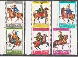 Hungary 1978 Ungarn Mi 3259-3264 Hussar Uniforms. Horses / Husarenuniformen. Pferde **/MNH - Paarden