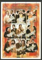 SENEGAL 1999 FILMS HOLLYWOOD LEIGH HAYWARD GARBO ASTAIRE BOGART M/SHEET MNH - Senegal (1960-...)
