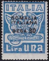 COLONIE ITALIANE SOMALIA 1923 Marcia Su Roma 30b Su L.1 / Nuovo Con Gomma Integra MNH** - Somalia
