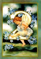 Belle Carte  - Les Chiffres Des  Angelots    ,numéro 2,   Fleurs (Miosotys  )     N208 - Angels