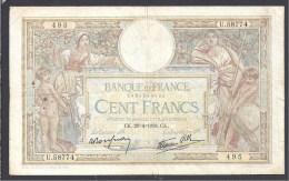 100 Fr  L.O. Merson  Du  28 - 4 - 1938 - 1871-1952 Circulated During XXth
