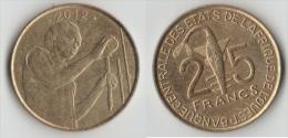 Monnaie Côte D'Ivoire 25 Francs Xof 2012 Circule Peut, TTB - Côte D'Ivoire