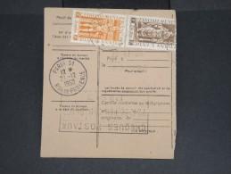 FRANCE-INDE-Mandat Carte Chargée De Pondichery Pour Paris En 1950 Pas Fréquent à Voir Lot P7107 - Brieven En Documenten