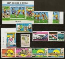 Lot 1 Bloc + 12 Timbres Séries Neufs ** Mali - Mali (1959-...)