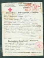 Formulaire  ( Renseignements ) Croix Rouge Daté Du 1/02/1944  De Paris Pour Oran Algérie   - Ac8735 - Marcophilie (Lettres)