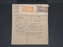 FRANCE-INDE-Mandat Carte Chargé De Pondichéry Pour Paris En 1950  Pas Fréquent à Voir Lot P7114