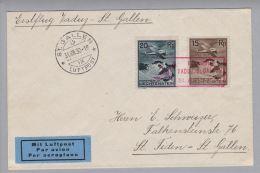 Liechtenstein 1930-08-31 Erstflug Vaduz-St.Gallen - Poste Aérienne