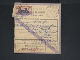FRANCE-NOUVELLE CALEDONIE-Mandat Carte De Moindou Pour Paris En 1952  Pas Fréquent à Voir Lot P7115 - Nueva Caledonia