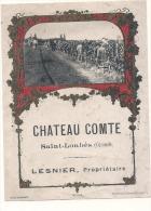 Chateau Comte  Saint LOUBES étiquette Ancienne Avec Photo Des Vendanges TB - Rouges
