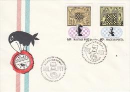 SCHACH-CHESS-ECHECS-SCACC HI, HUNGARY, 1974, Special Postmark !! - Scacchi