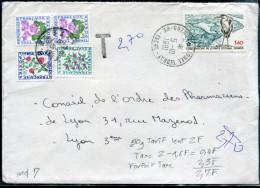 FRANCE - TAXE N° 98 + 101 + 102 (2) / LETTRE DE GRENOBLE LE 5/10/1981 POUR LYON - SUP - Taxes