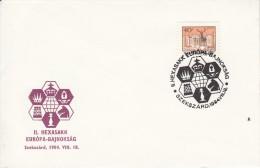 SCHACH-CHESS-ECHECS-SCACC HI, HUNGARY, 1984, Special Postmark !! - Echecs