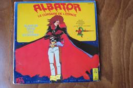 ALBATOR LE CORSAIRE DE L'ESPACE Livre Disque 45 Tours Le Petit Menestrel 1980 - Enfants