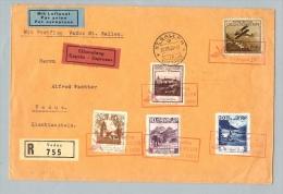 Liechtenstein 1930-08-31 Postflug Vaduz>SG 90Rp Zu#94A - Air Post
