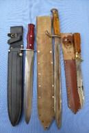 Lot De 3 Pièces 2 Couteaux Et 1 Baillonnette - Knives/Swords