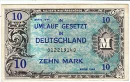 Germany #194b, 10 Marks 1944 Banknote Money - [ 5] 1945-1949 : Occupation Des Alliés