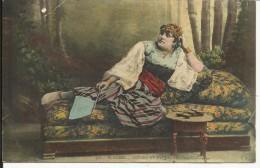 """Femme Algérienne , 1905 , CPA ANIMEE + Cachet """" PLACE D'OUDJDA """" & """" TROUPES D'OCCUPATION , MAROC CENTRALE """" - Women"""