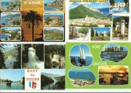 Lot De 8 Cpm France Multivues - Ansichtskarten