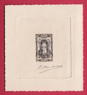 FRANCE - N° 598 E -  Non Emis - Coiffe De Savoie - Epreuve - Dessin Lemagny - Gravure Barlangue. Rare - Prove D'artista