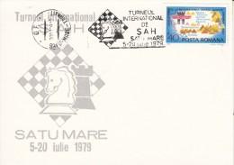 SCHACH-CHESS-ECHECS-SCACC HI, ROMANIA, 1979, Special Postmark !! - Scacchi