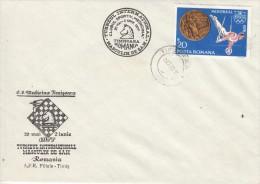 SCHACH-CHESS-ECHECS-SCACC HI, ROMANIA, 1977, Special Postmark !! - Scacchi