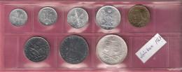 VATICAAN SERIE 1967 8 PCS 1,2,5,10,20,50,100 & 500 LIRE INCL.ZILVER - Vatican