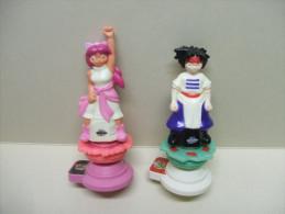 Lot Publicitaire De 2 TOUPIES BEYBLADE QUICK - Figurines