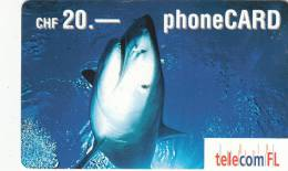 LIECHTENSTEIN - Shark, Telecom FL Prepaid Card CHF 20, Exp.date 07/03, Used - Liechtenstein