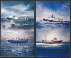 ICELAND/Island 2014 Fishing Vessels Set Of 4v** From Booklets - 1944-... Repubblica