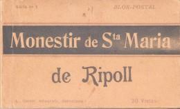 LIBRO CON 20 POSTALES DIFERENTES DEL MONASTERIO DE Sª MARIA DE RIPOLL (FOTOGRAFO L. ROISIN) - Iglesias Y Catedrales