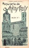 LIBRO CON 20 POSTALES DIFERENTES DEL MONASTERIO DE SANTAS CREUS BLOCK Nº1 (FOTOGRAFO L. ROISIN) - Iglesias Y Catedrales