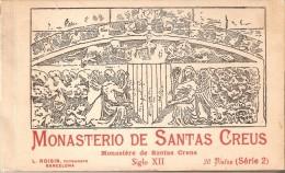 LIBRO CON 20 POSTALES DIFERENTES DEL MONASTERIO DE SANTAS CREUS BLOCK Nº2 (FOTOGRAFO L. ROISIN) - Iglesias Y Catedrales