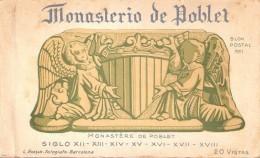 LIBRO CON 20 POSTALES DIFERENTES DEL MONASTERIO DE POBLET BLOCK Nº1 (FOTOGRAFO L. ROISIN) - Iglesias Y Catedrales