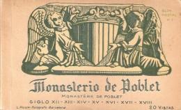 LIBRO CON 20 POSTALES DIFERENTES DEL MONASTERIO DE POBLET BLOCK Nº2 (FOTOGRAFO L. ROISIN) - Iglesias Y Catedrales