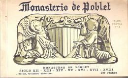 LIBRO CON 20 POSTALES DIFERENTES DEL MONASTERIO DE POBLET BLOCK Nº4 (FOTOGRAFO L. ROISIN) - Iglesias Y Catedrales