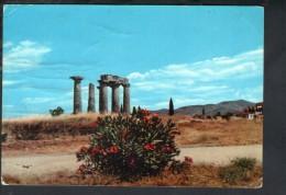 J2926 CORINTO - CORINTH - CORINTHE ( GREECE, GRECIA ) TEMPLE D' APOLLON  USED 1969 VERSO ITALIA - Grecia