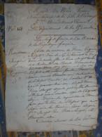 ACTE DE NAISSANCE AN 11 DE LA REPUBLIQUE BORDEAUX Concerne SOURGET ROSE + RECEPISE - Manuscrits