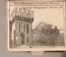 CAJA DE CERILLAS DE ITALIA DE SAN COLOMBANO AL LAMBRO (MILANO) CASTELLO BELGOIOSO (SAFETY MATCHES) - Cajas De Cerillas (fósforos)