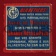 PORTUGAL - AGUAS DE MELGACO - GRANDE HOTEL DO PESO - OLD VIGNETTE - Portugal