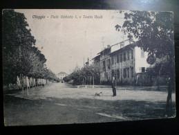 Oleggio-Novara 2 Scans Viale Umberto E Teatro Verdi Usata 1926 Pregiata Affrancatura - Altre Città