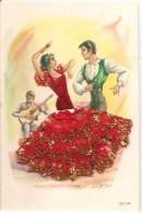 CPA-1960-ESPAGNE-COUPLE DANSEURS ESPAGNOLS-Robe En TISSU-TBE - Danses